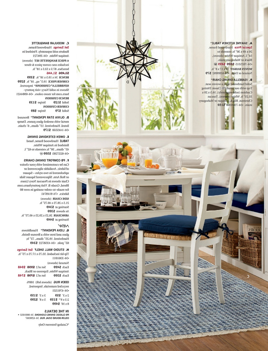 Antique White Shayne Drop Leaf Kitchen Tables With Famous Pottery Barn – Spring 2017 D2 – Shayne Round Drop Leaf (View 14 of 25)