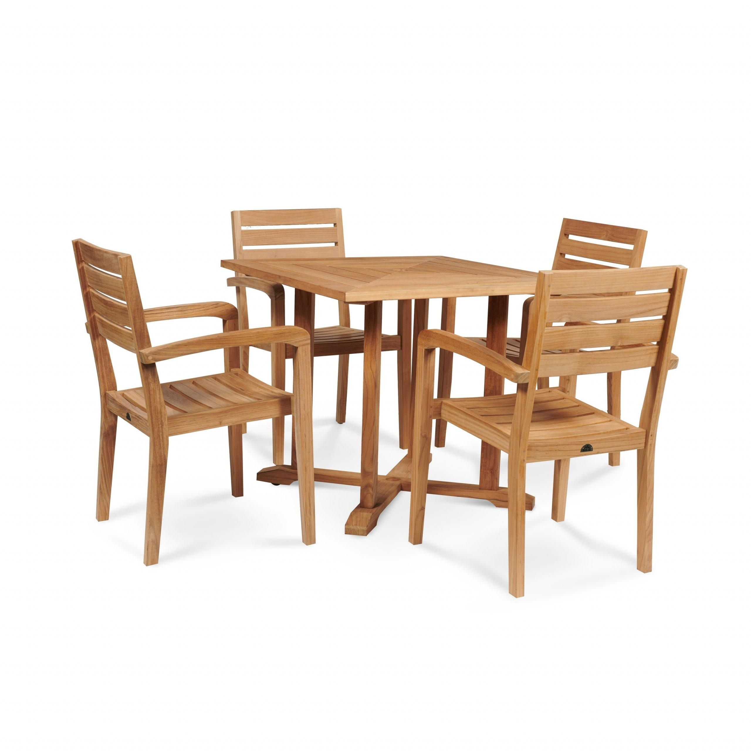 Avery Outdoor Square Teak Dining Table Pertaining To Fashionable Avery Rectangular Dining Tables (View 23 of 25)