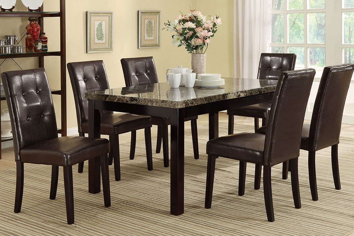 Avery Rectangular Dining Tables With Regard To Fashionable Avery Marble Top Dining Table Set (View 22 of 25)