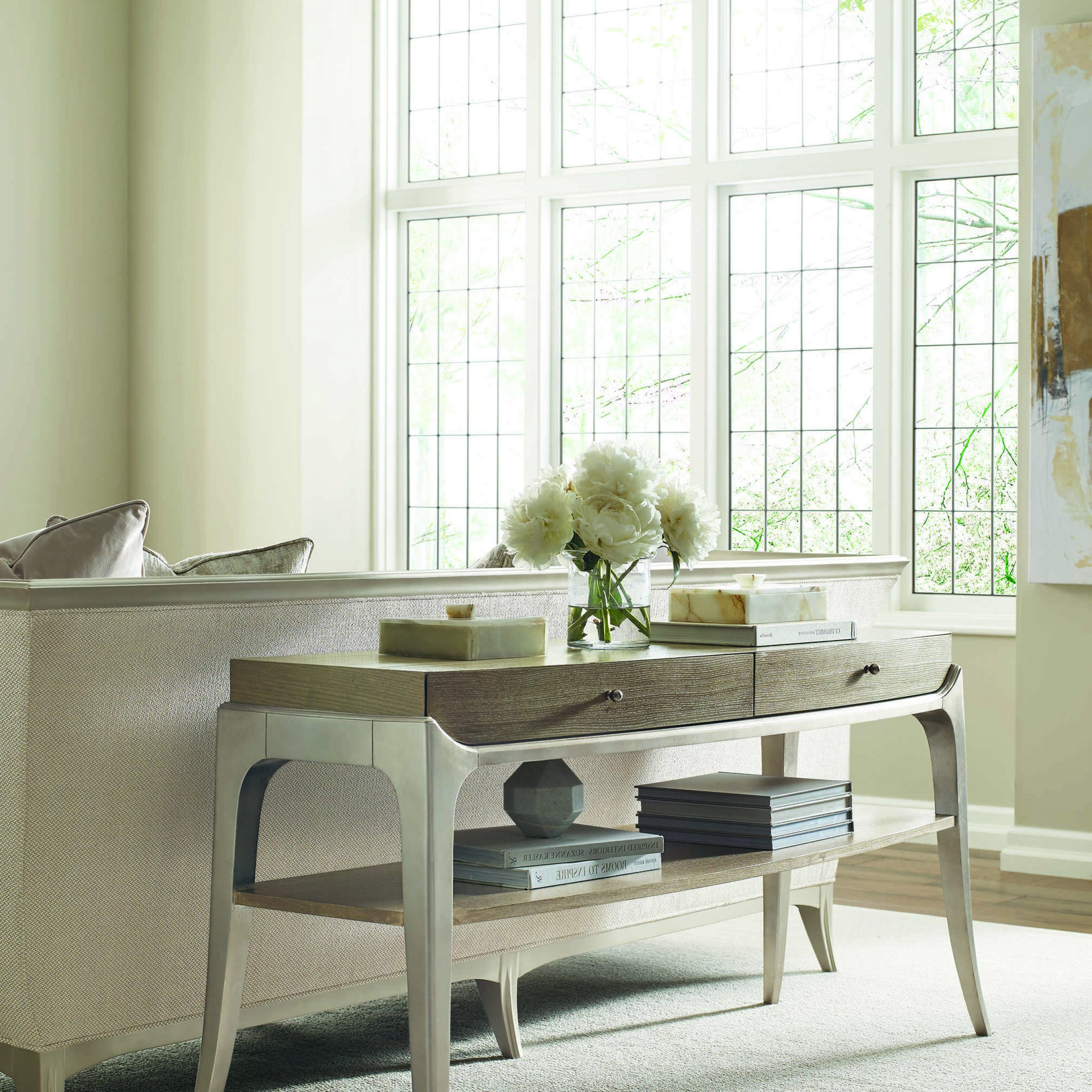 Avondale Dining Tables Inside Fashionable Caracole Compositions Avondale Ash / Soft Silver 60''w X 20''d Rectangular  Console Table (View 13 of 25)