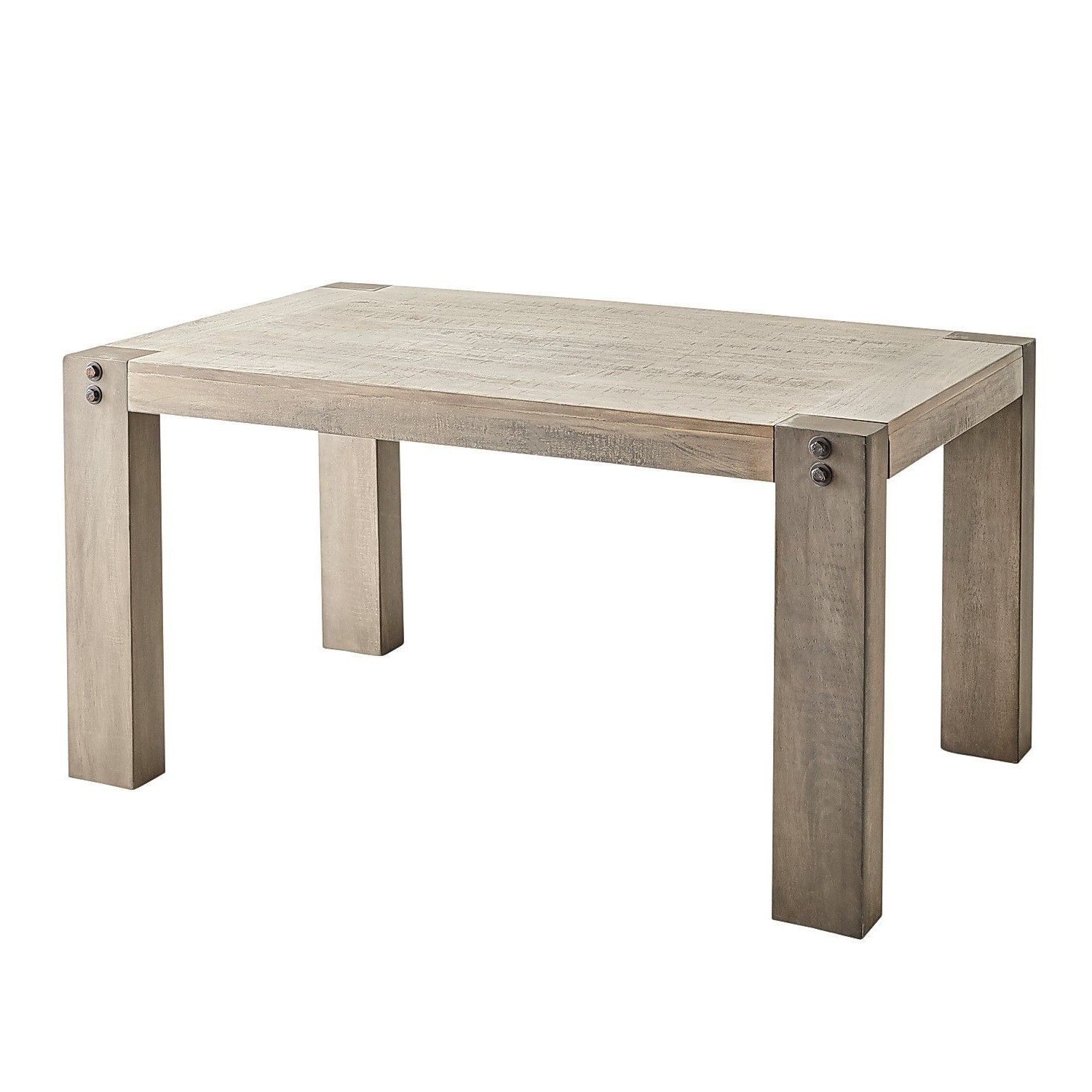 """Bartol Reclaimed Dining Tables in Well-liked Bolt 60"""" Gray Dining Table"""