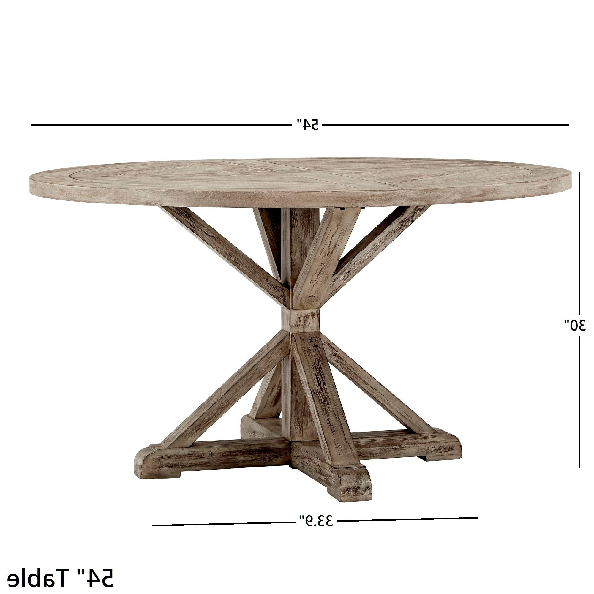 Benchwright Antique Grey Oak Round Dining Tableinspire Q Artisan Within Latest Benchwright Round Pedestal Dining Tables (View 16 of 25)