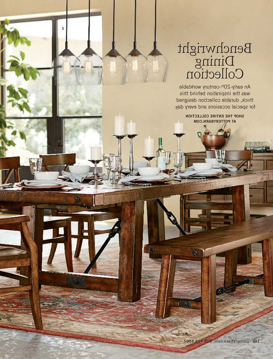 Benchwright Bar Height Dining Tables with regard to Best and Newest Pottery Barn - Spring 2017 D1 - Decker Leather Bar Stool