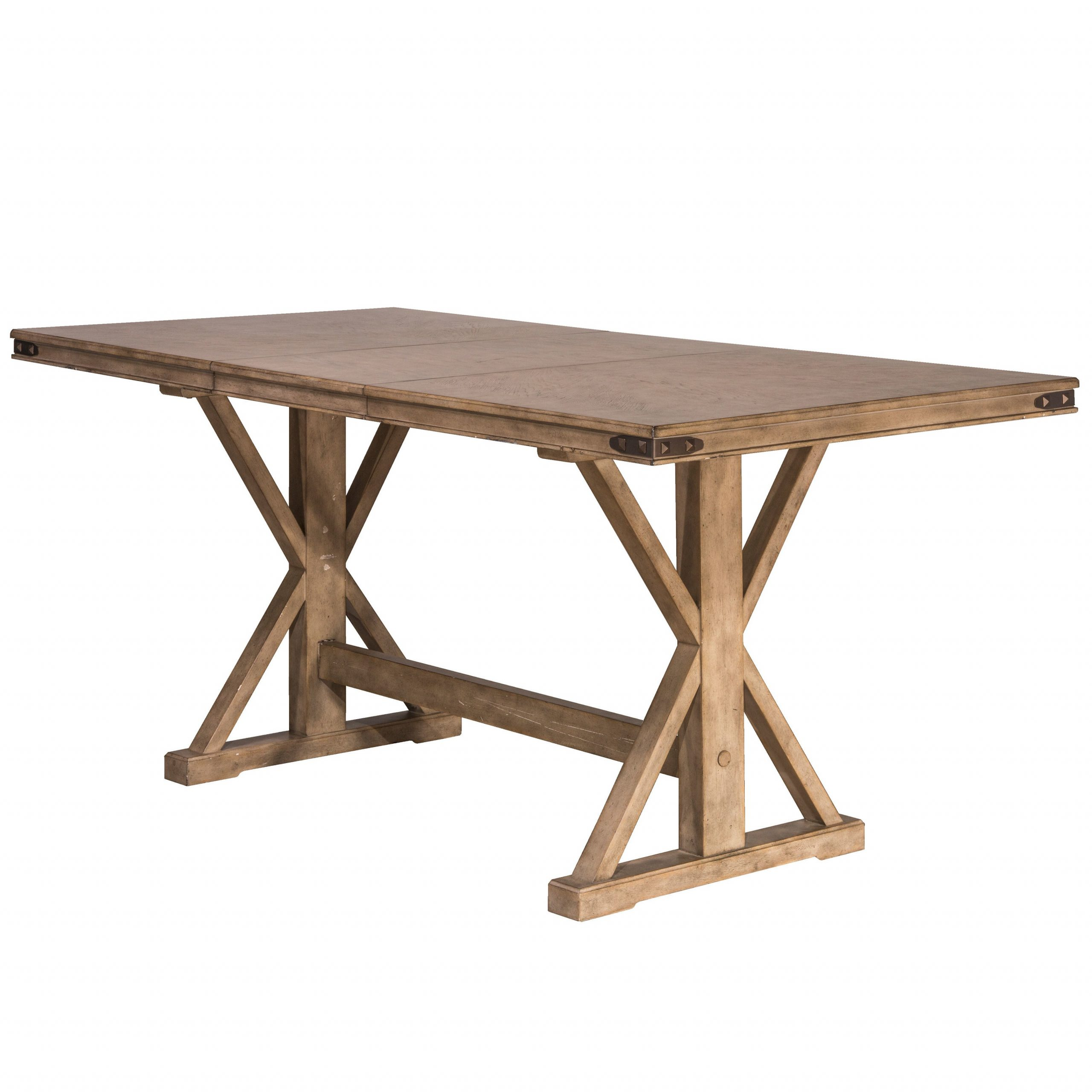 Benchwright Counter Height Tables for Well known Hillsdale Furniture Leclair Vintage Grey Wood Counter-Height Dining Table
