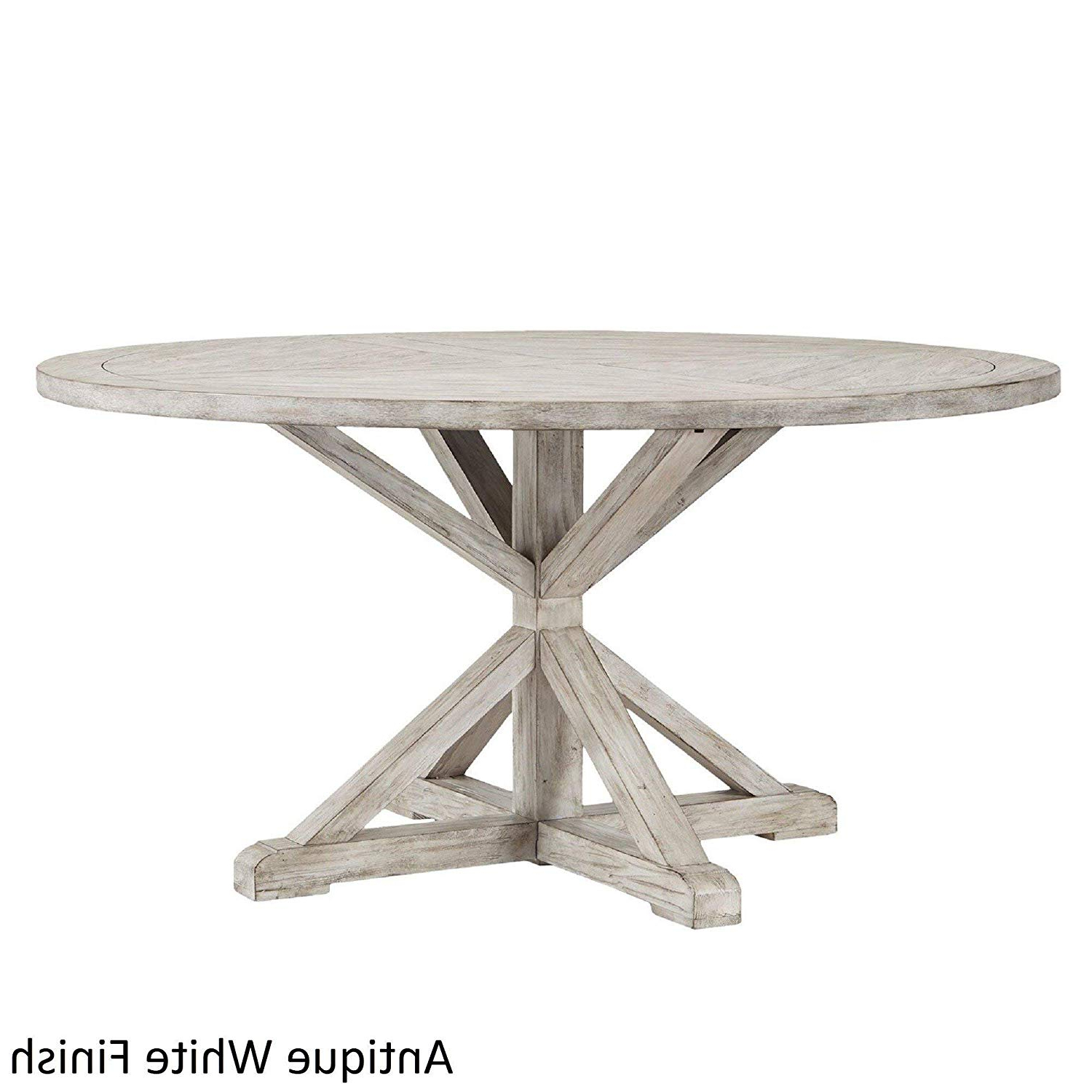 Benchwright Counter Height Tables intended for Current Amazon - Inspire Q Benchwright Rustic X-Base Round Pine