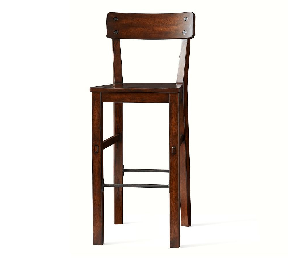Benchwright Counter Height Tables pertaining to Current Benchwright Bar Stool, Counter Height, Rustic Mahogany