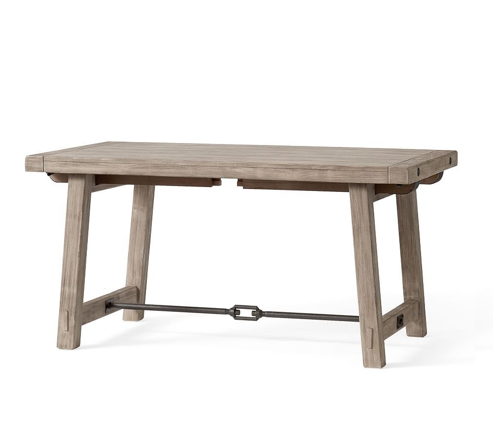 "Benchwright Extending Dining Table, Gray Wash, 74""l X 40""w in Current Gray Wash Benchwright Dining Tables"