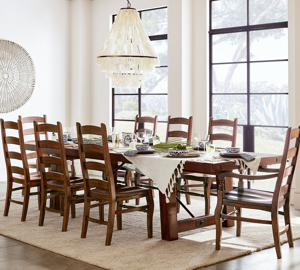 Benchwright Extending Dining Table pertaining to Favorite Blackened Oak Benchwright Extending Dining Tables