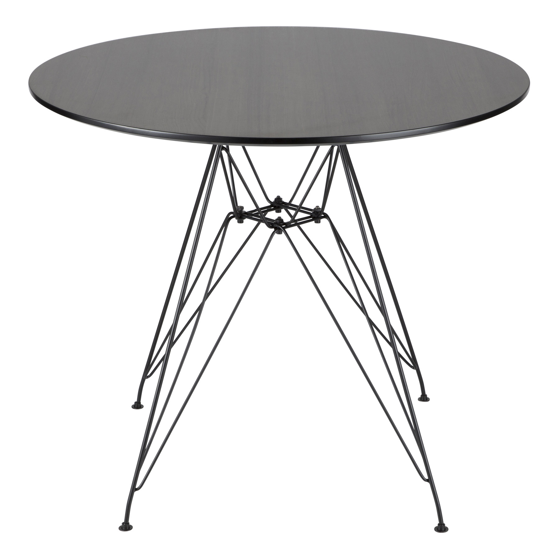 Best and Newest Avery Round Dining Tables in Lumisource Dt-Avryrd Bk+Wl Avery Round Dining Table