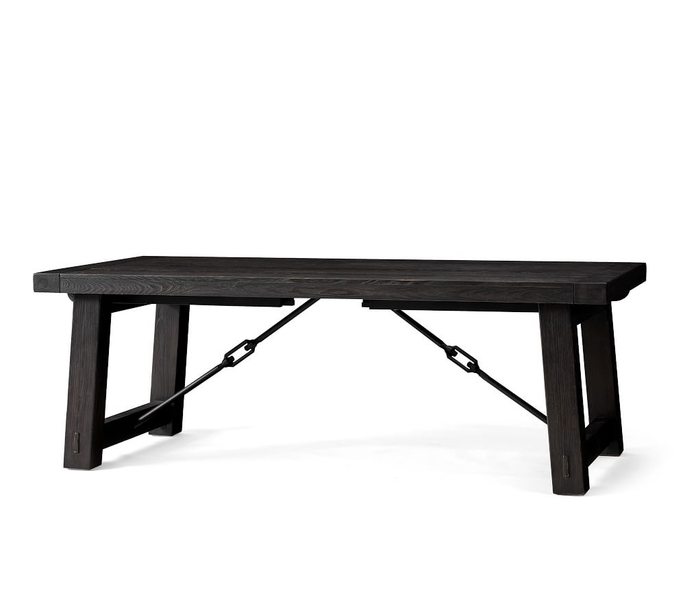 Best and Newest Blackened Oak Benchwright Extending Dining Tables in Benchwright Extending Dining Table