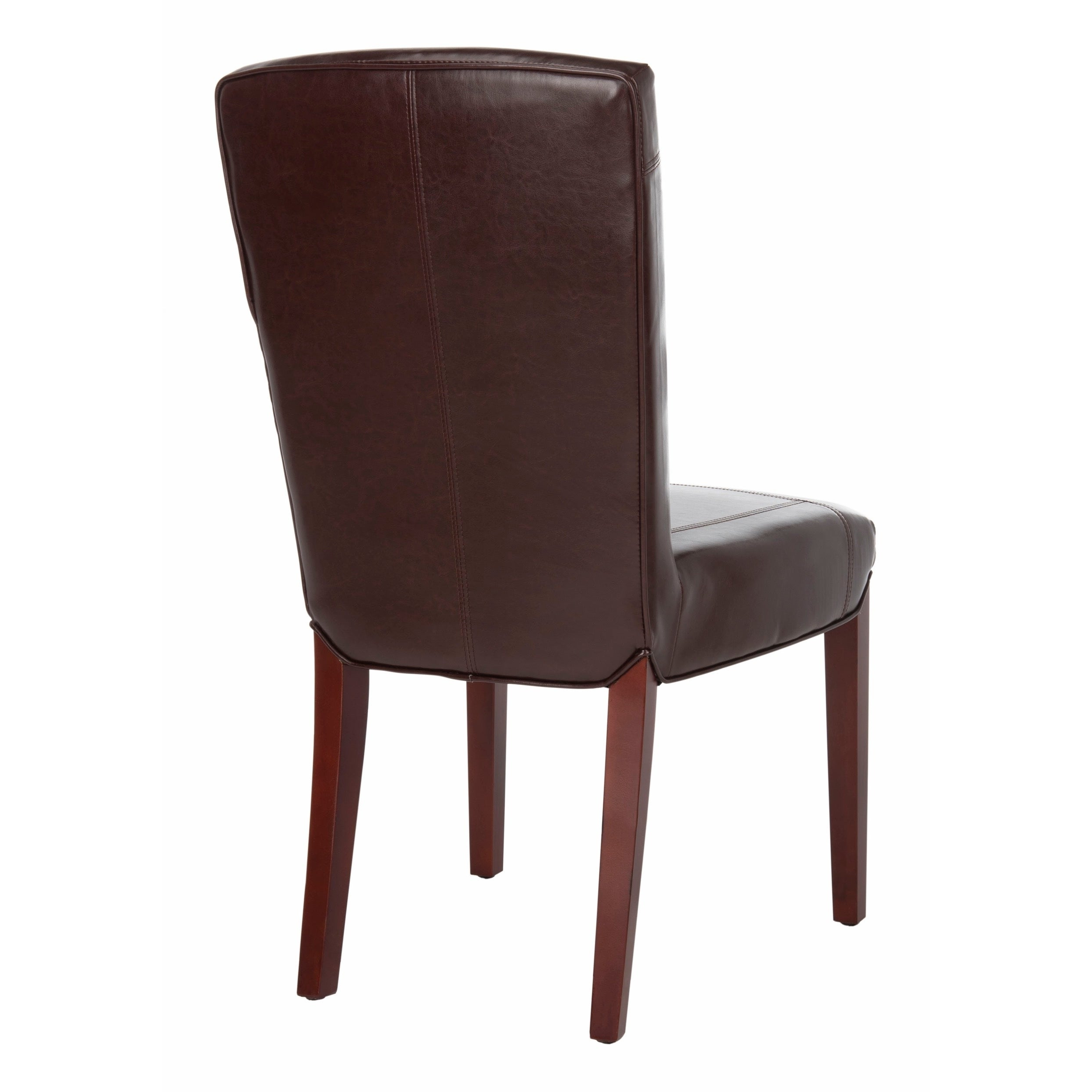 Best and Newest Bowry Reclaimed Wood Dining Tables regarding Safavieh Dining Parsons Bowery Brown Marbled Leather Dining Chairs (Set Of  2)