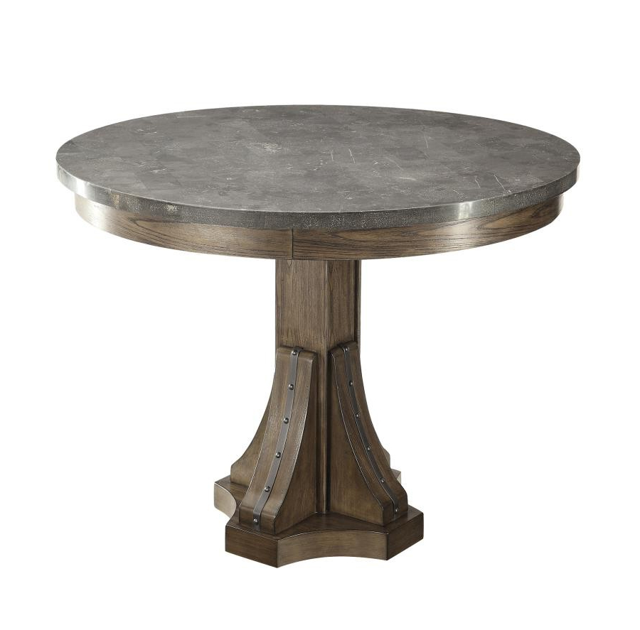 Best and Newest Chapman Round Marble Dining Tables in Willowbrook Collection - Willowbrook Rustic Chinese Ash Round Dining Table