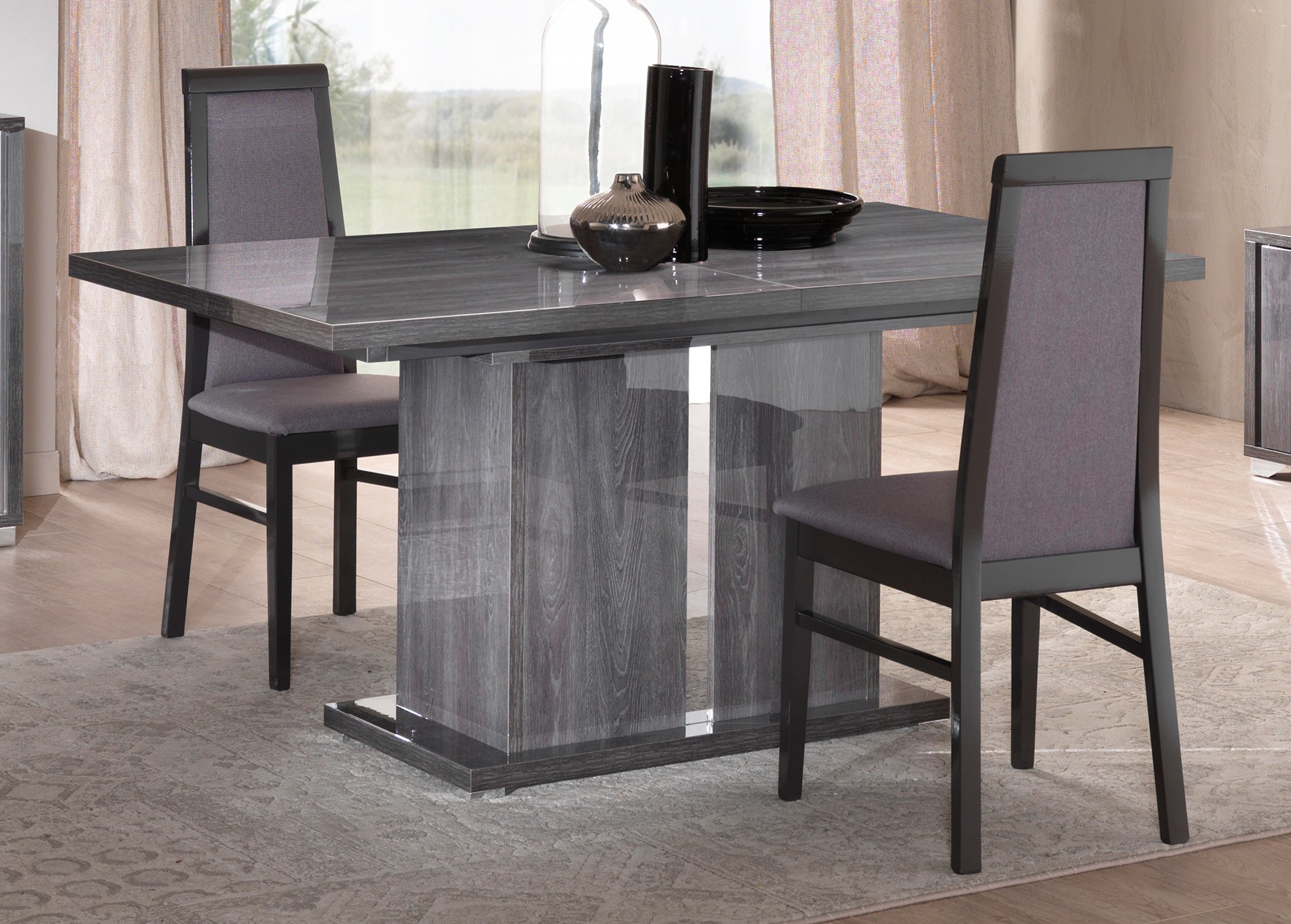 Best and Newest Martino Dining Tables pertaining to San Martino Armony Grey Extending Dining Table