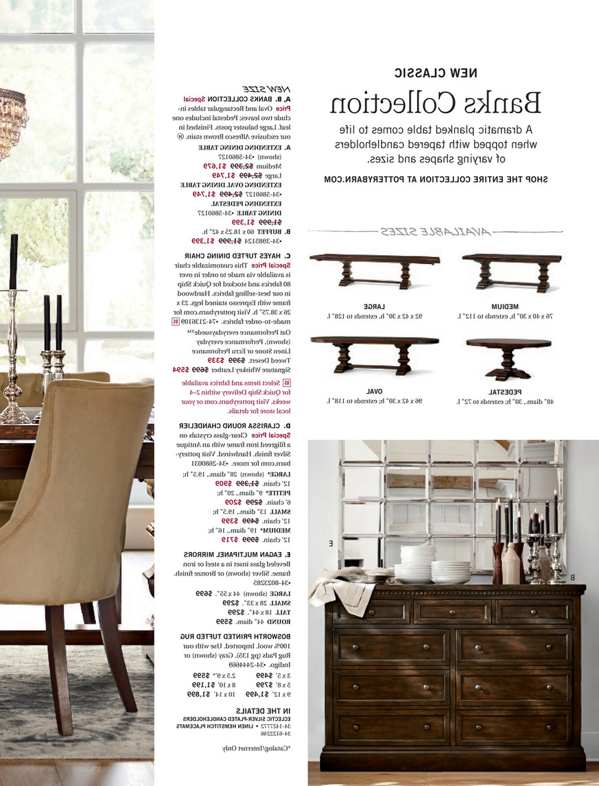 Best and Newest Pottery Barn - Spring 2017 D3 - Banks Extending Dining Table pertaining to Alfresco Brown Banks Extending Dining Tables