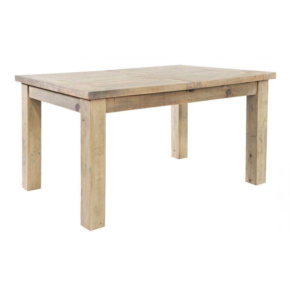 Best and Newest Saltash Rustic Reclaimed Wood Extending Dining Table intended for Reed Extending Dining Tables