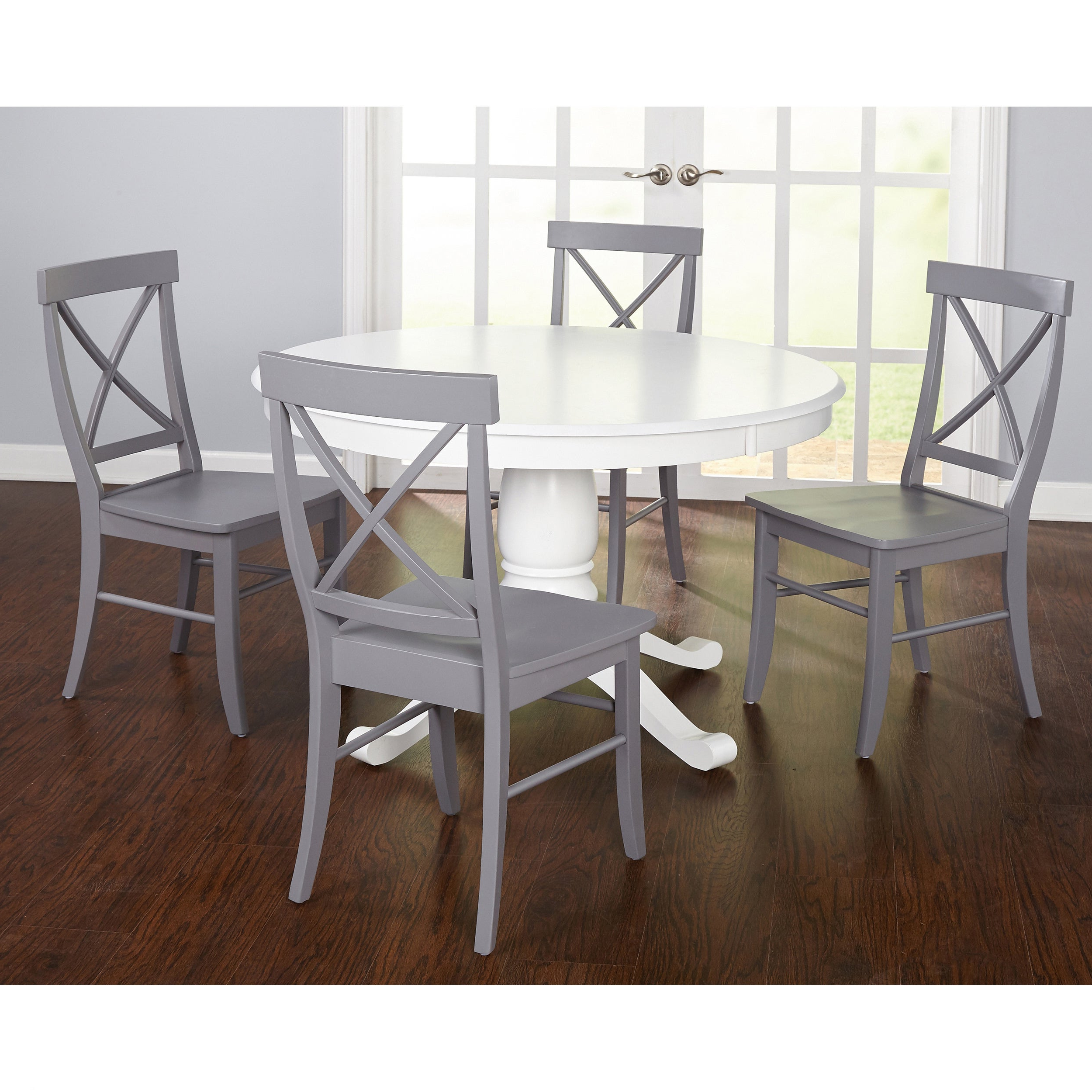 Best and Newest Simple Living 5-Piece Dawson Dining Set inside Dawson Pedestal Dining Tables