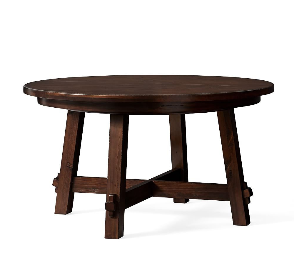 Best and Newest Toscana Extending Pedestal Table, Tuscan Chestnut At Pottery within Tuscan Chestnut Toscana Dining Tables