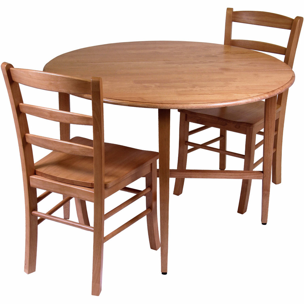 Bismark Dining Tables with regard to Favorite Drop-Leaf Dining Table And Chairs (Set Of 3) In Dinette Sets