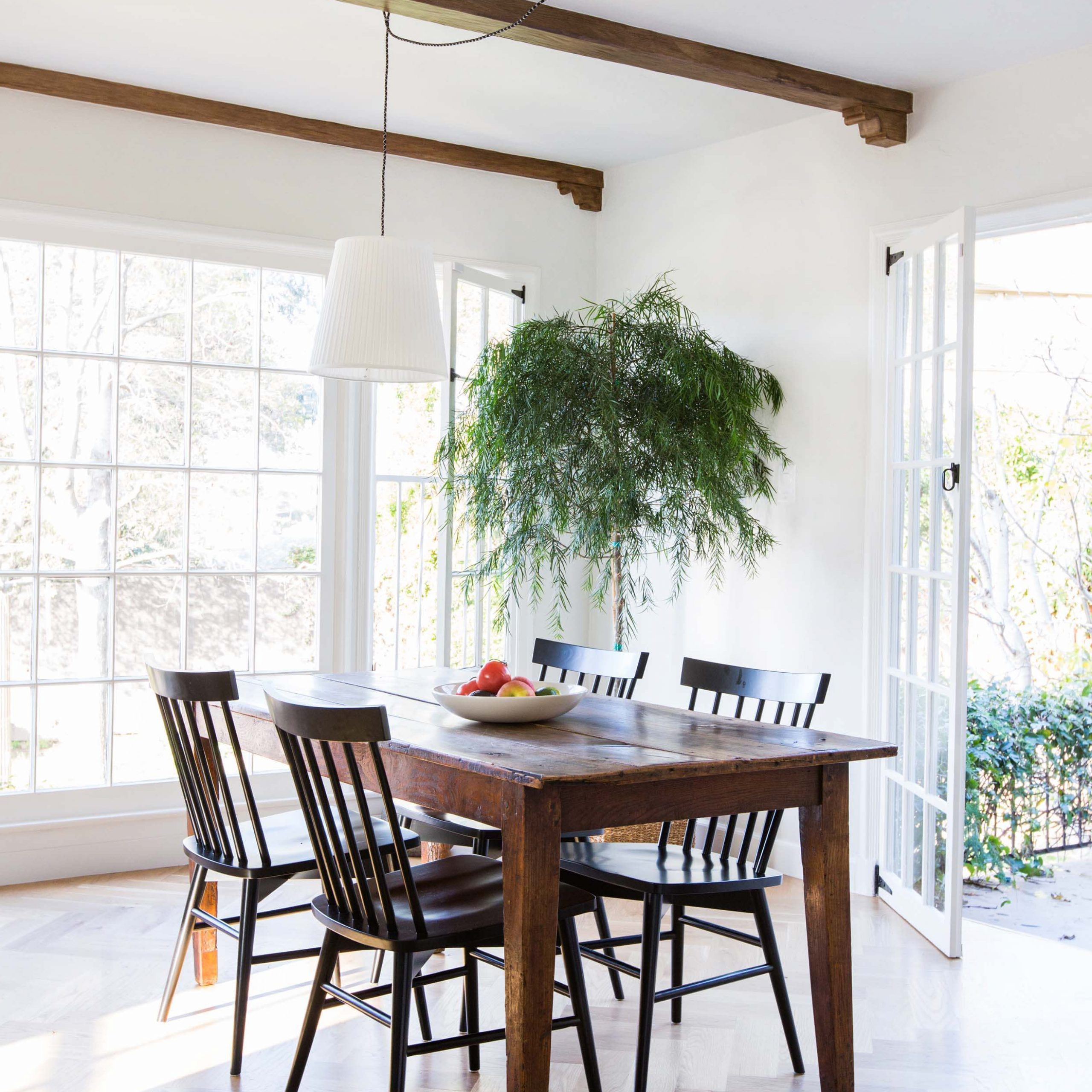 Black Olive Hart Reclaimed Pedestal Extending Dining Tables inside Popular Dining Room Update With A Lot Of Questions - Emily Henderson