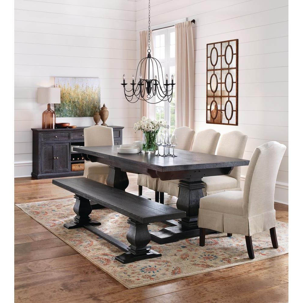 Black Wash Banks Extending Dining Tables with Popular Home Decorators Collection Aldridge Washed Black Buffet