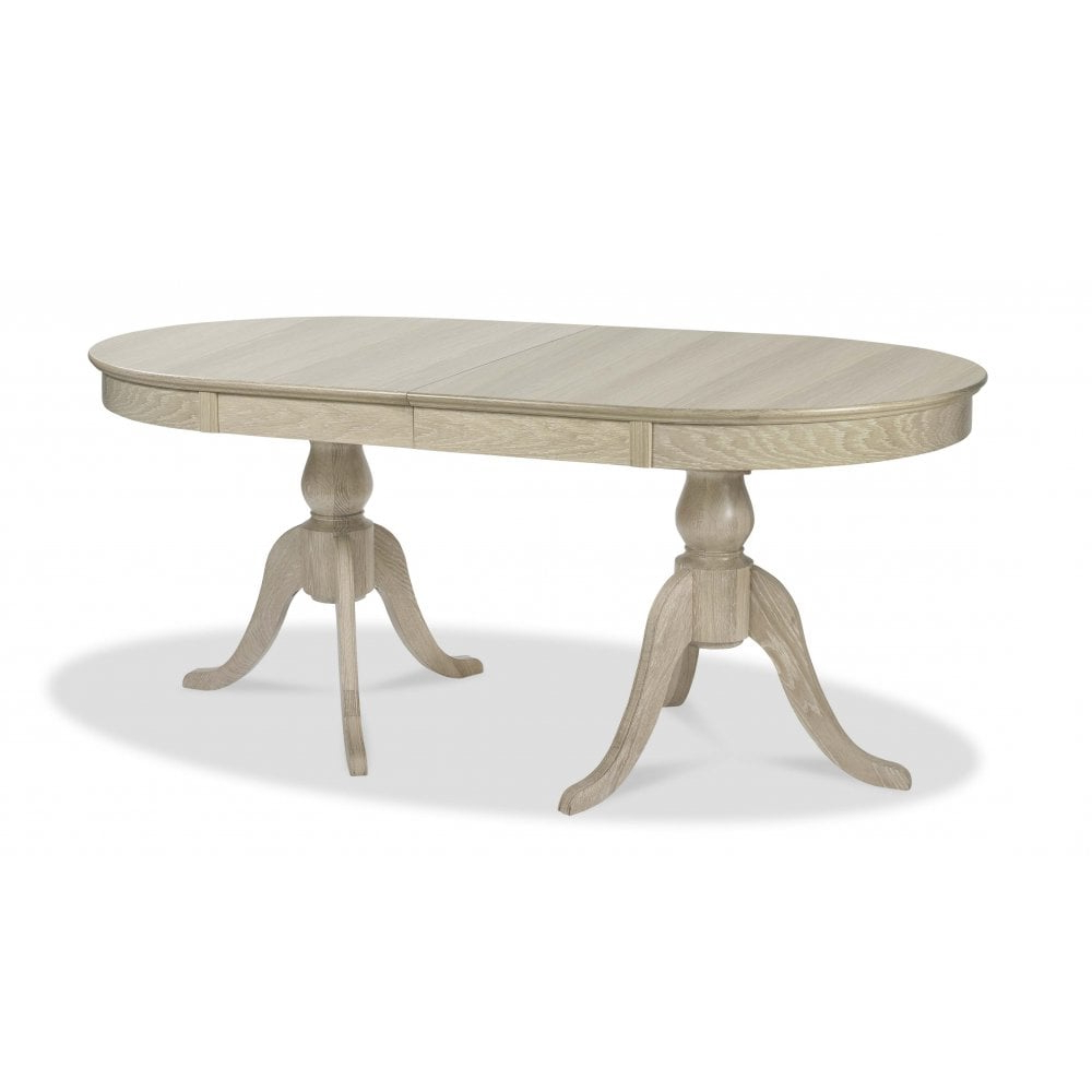 Bordeaux Chalk Oak Oval Extending Dining Table - 178Cm-228Cm throughout Well-known Reed Extending Dining Tables