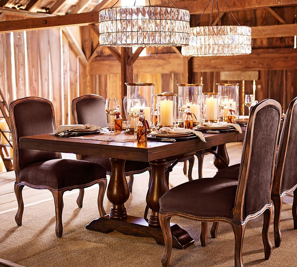 Bowry Reclaimed Wood Dining Tables intended for Most Popular Lorraine Extending Dining Table, Hewn Oak