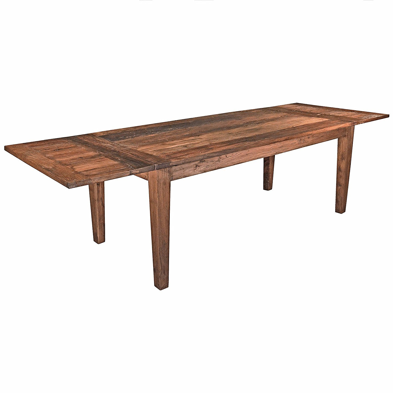 Bowry Reclaimed Wood Dining Tables pertaining to Most Current Amazon - Rustic Solid Reclaimed Wooden Modern Antique