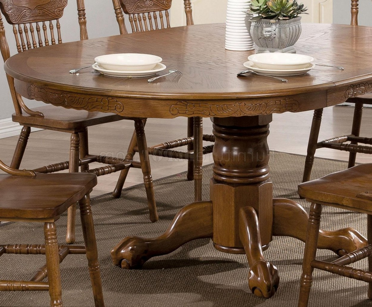 Brooks Dining Table 104270Coaster In Oak W/options regarding Fashionable Brooks Dining Tables