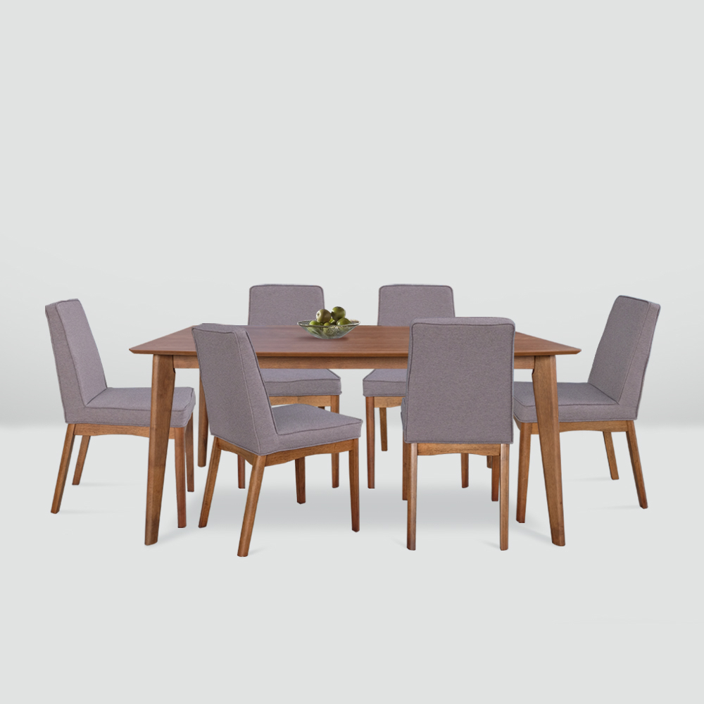 Brooks Dining Tables with regard to Widely used Brooks 1+6 Dining Set