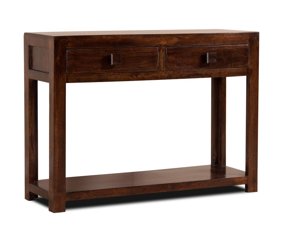 Brussels Reclaimed European Barnwood Dining Tables for Newest Dark Walnut Stained Console Table Mango Wood Hall Table Casa