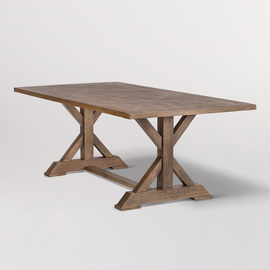 Bryant 84″ Dining Table – Alder & Tweed Furniture intended for Well known Alder Pub Tables