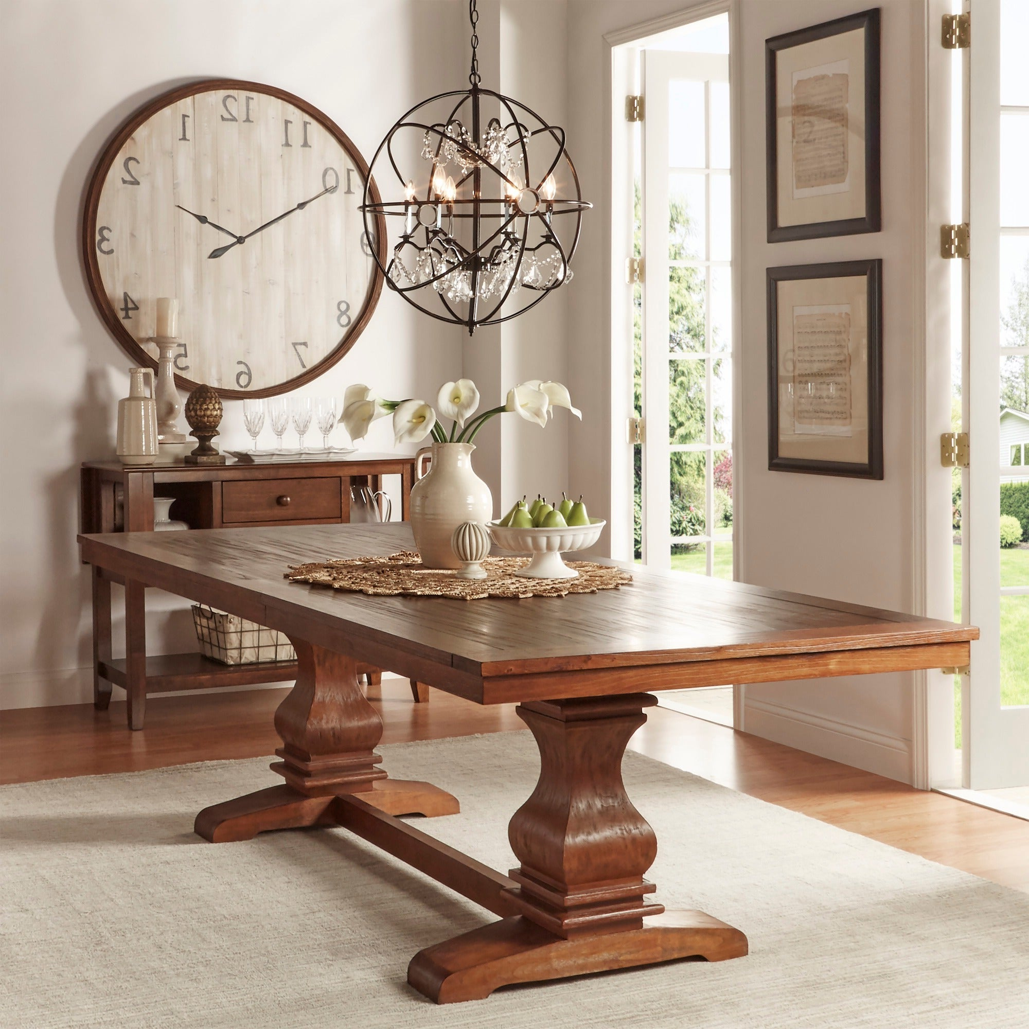 Current Atelier Burnished Brown Pedestal Extending Dining Tableinspire Q Classic For Alfresco Brown Benchwright Pedestal Extending Dining Tables (View 15 of 25)