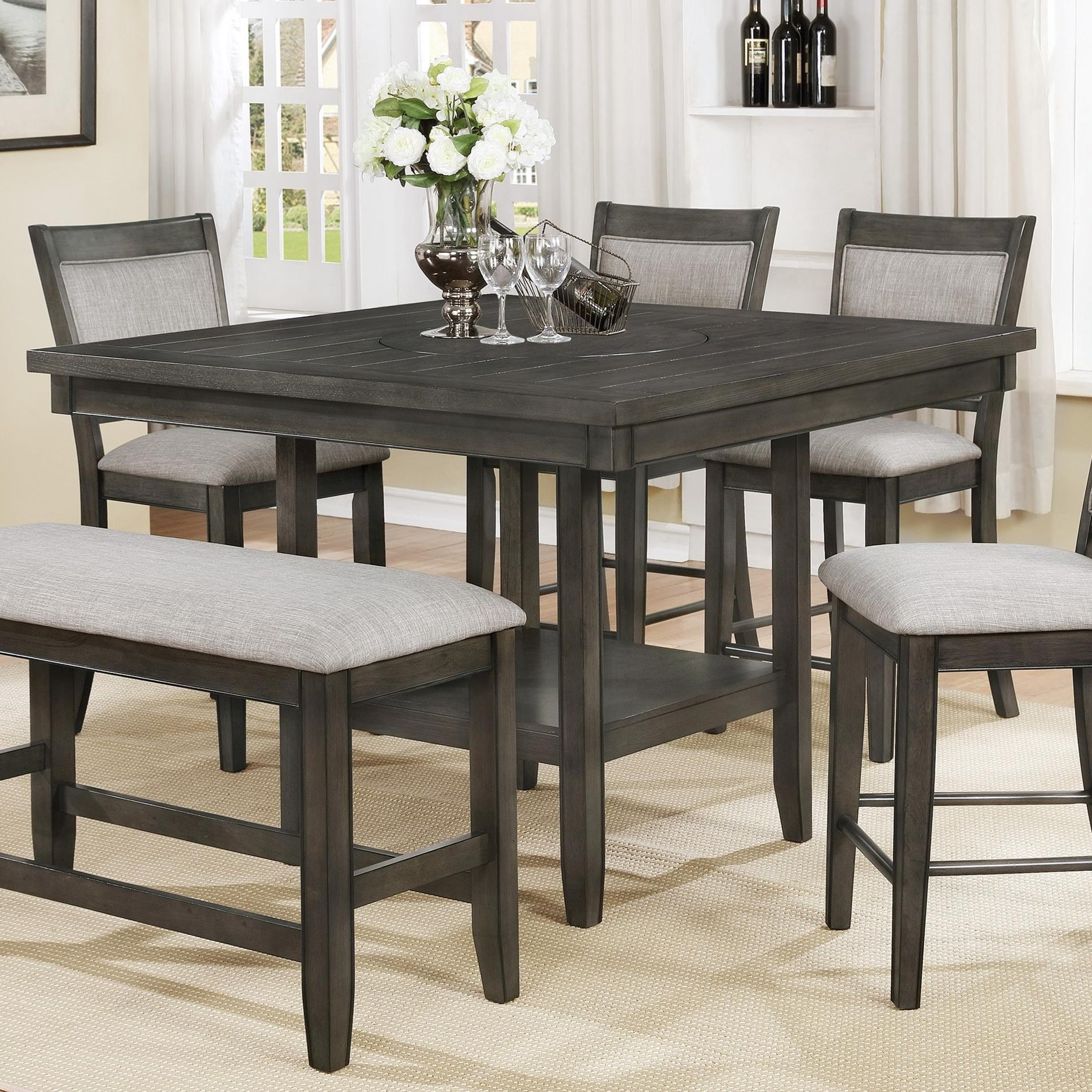 Current Fulton Counter Height Table With Lazy Susan Pertaining To Avondale Counter Height Dining Tables (View 9 of 25)