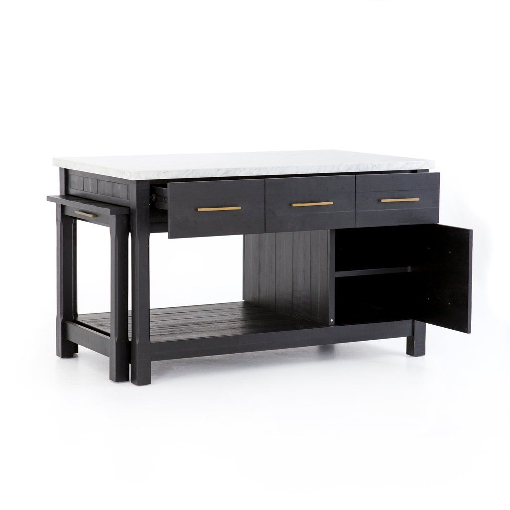 Current Ian Kitchen Island In Black Acacia Designbd Studio Throughout Elworth Kitchen Island (View 2 of 25)