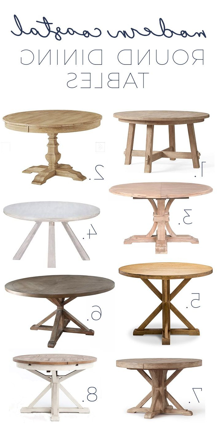 Current Montalvo Round Dining Tables With Regard To Modern Coastal Round Dining Tables – Gorgeous Options As Low (View 9 of 25)