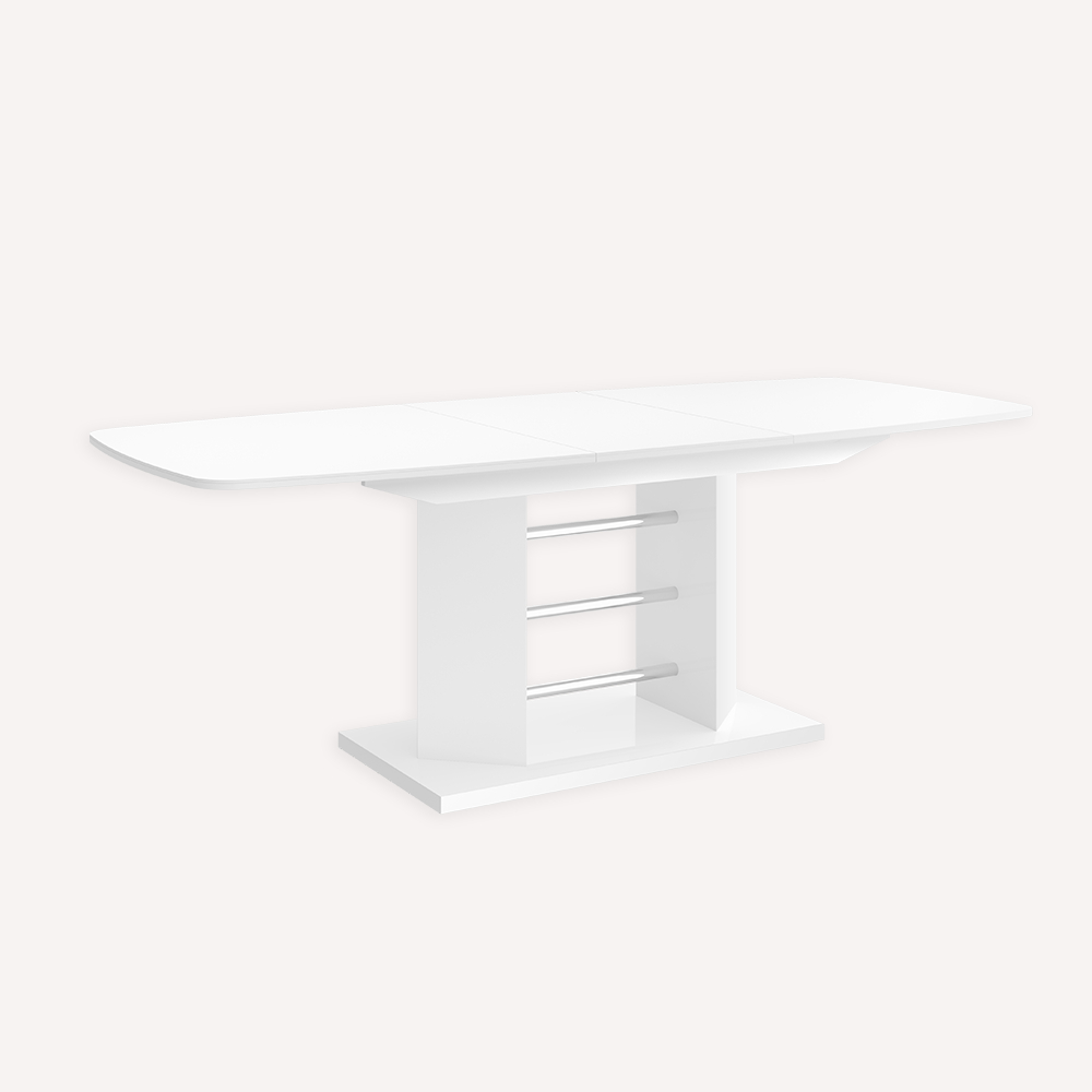 Current Thalia Dining Tables Regarding Extendable Dining Table  Thalia – White High Gloss (View 10 of 25)