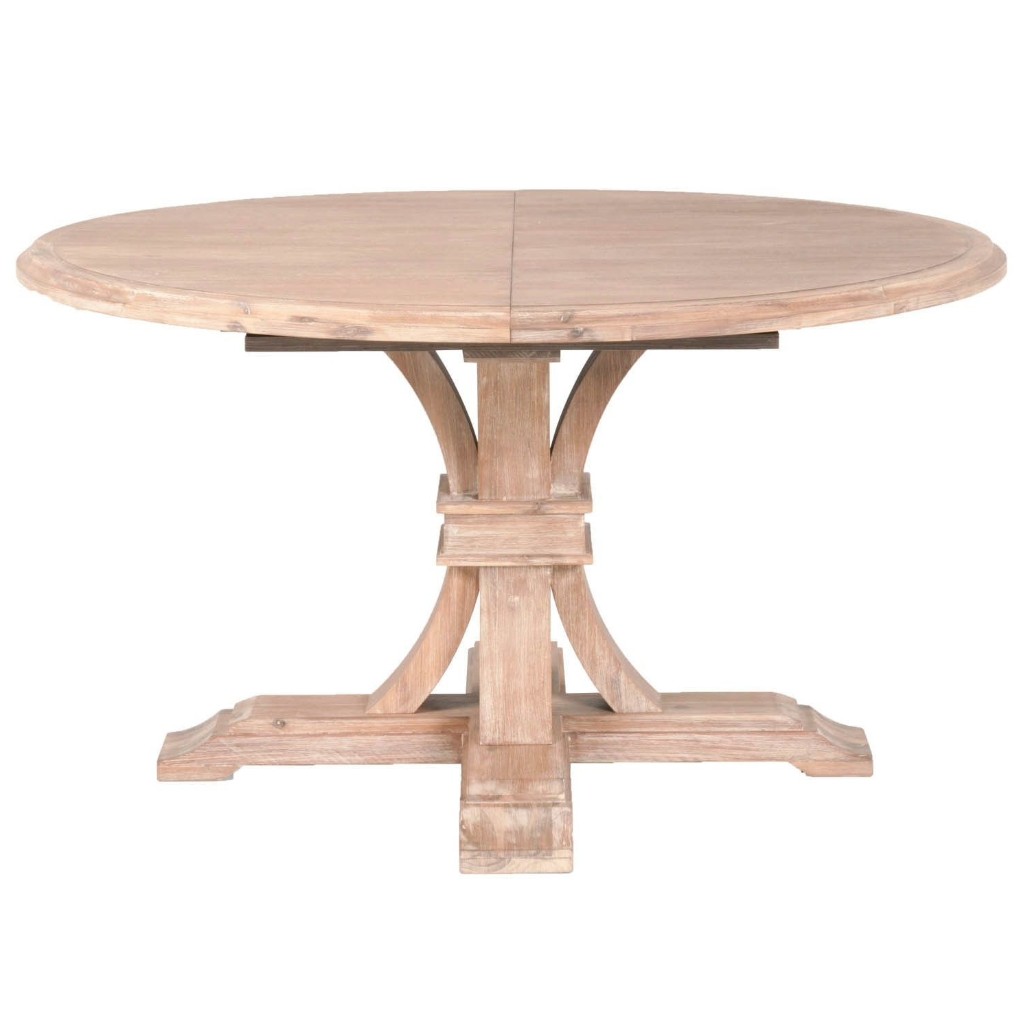 Darby Stone Wash Round Extension Dining Table (Stone Wash inside Most Recently Released Gray Wash Toscana Extending Dining Tables