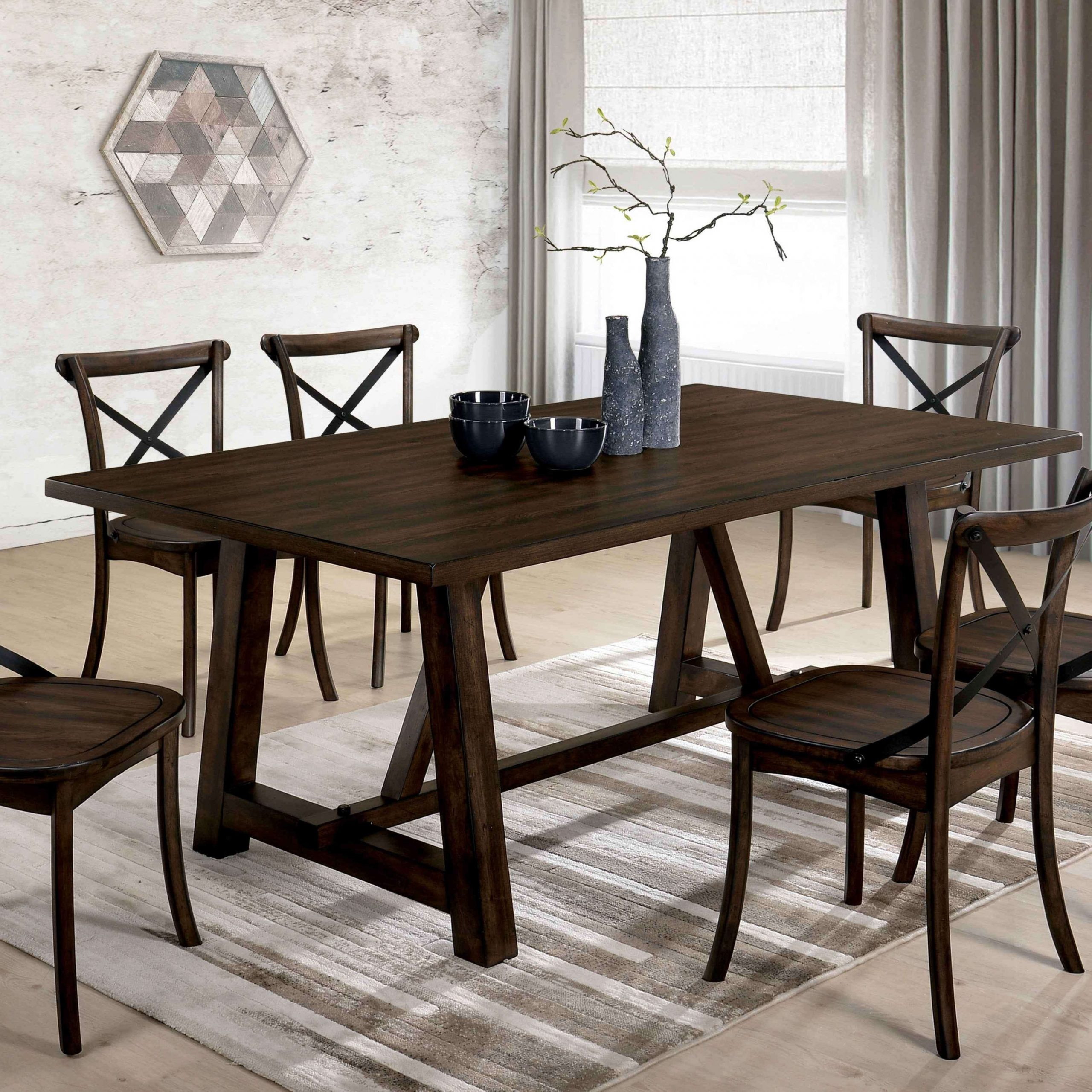 Delectable Furniture Lee Modern Farmhouse Dining Table Oak within Most Current Modern Farmhouse Extending Dining Tables