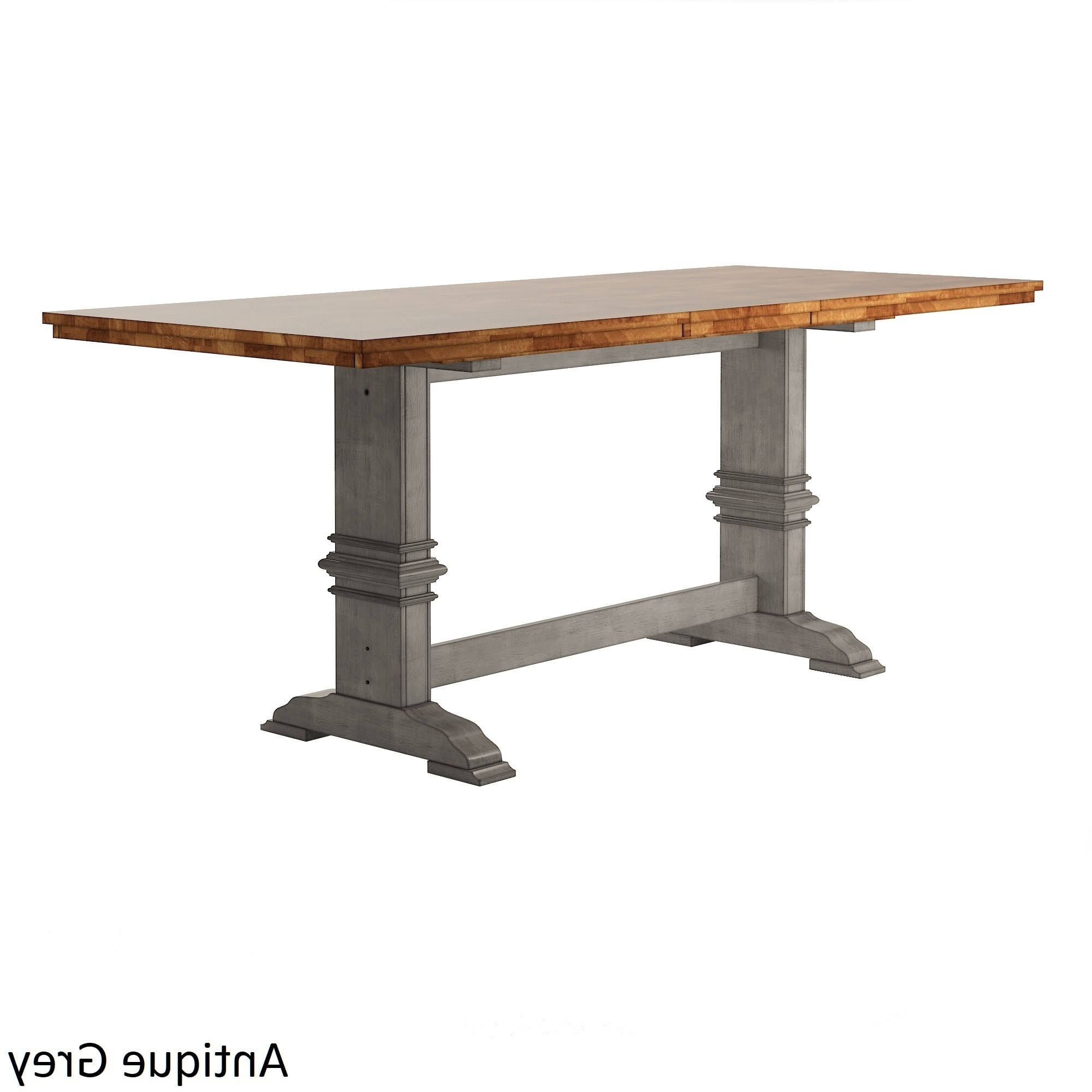 Eleanor Solid Wood Counter Height Trestle Base Dining Table Pertaining To Most Current Lucy Bar Height Dining Tables (View 5 of 25)