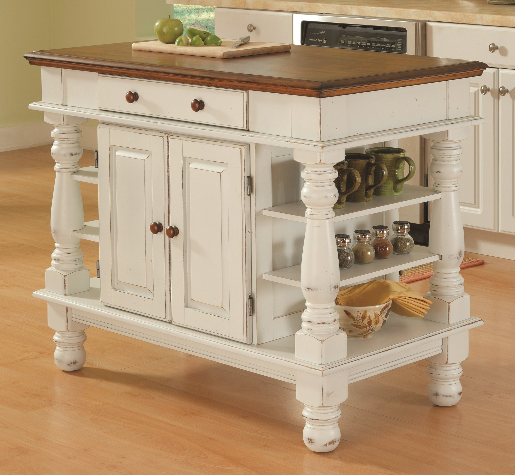 Elworth Kitchen Island Regarding Most Recent Best Rated In Kitchen Islands & Carts & Helpful Customer (View 9 of 25)