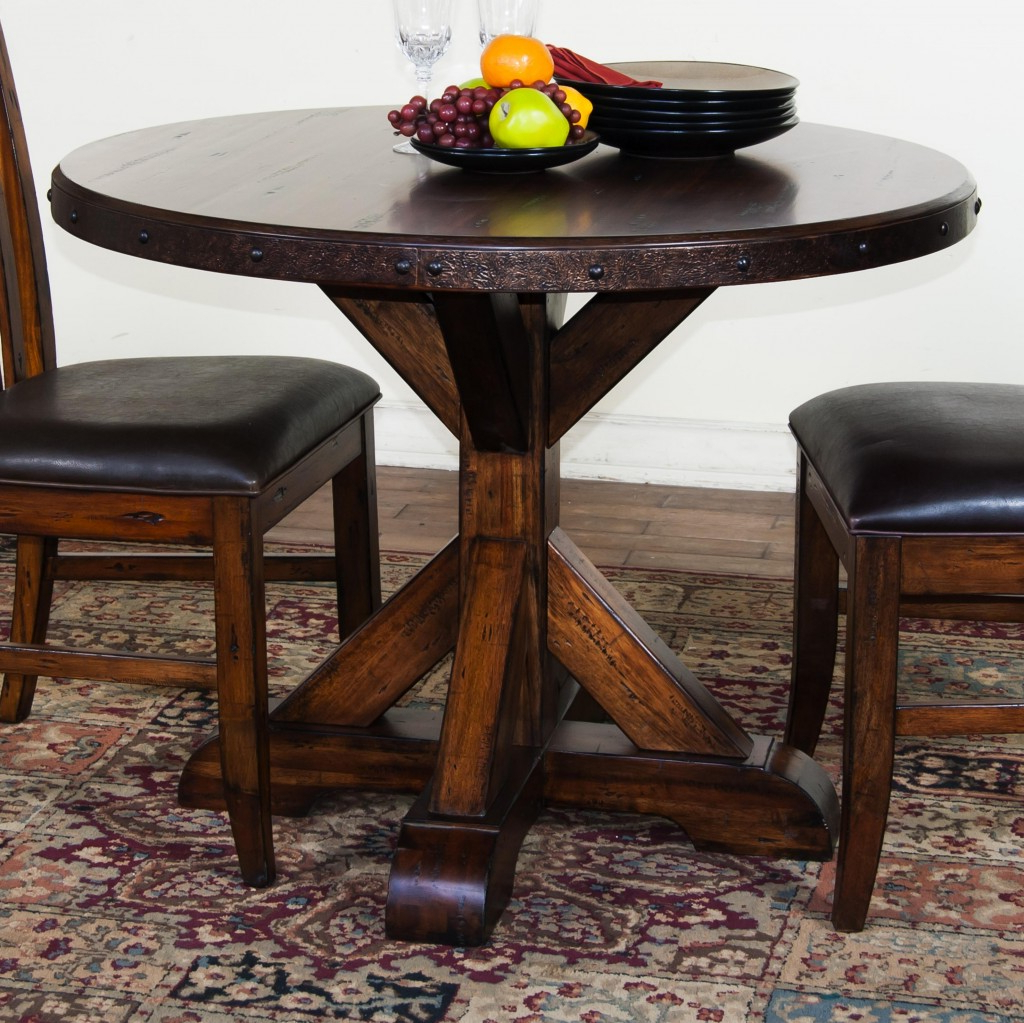 Exciting Round Pedestal Table With Armless Chairs Ideas 48 inside Newest Dawson Pedestal Tables