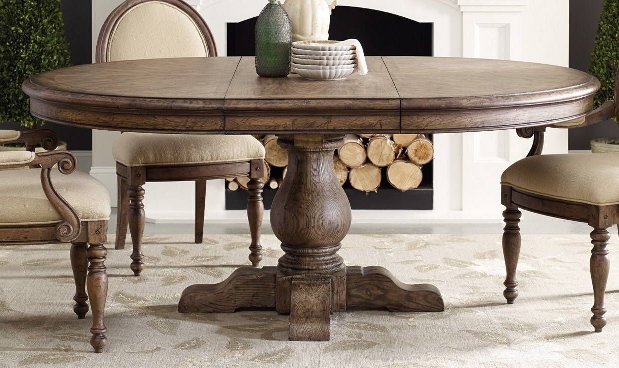 Famous Benchwright Round Pedestal Dining Tables With Regard To White Round Pedestal Dining Table With Leaf (View 22 of 25)