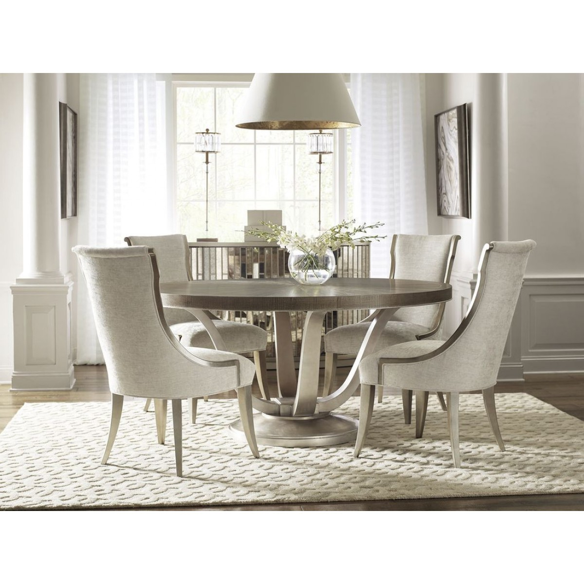 Famous Caracole Avondale 5Pc Round Dining Table Set Throughout Avondale Dining Tables (View 3 of 25)