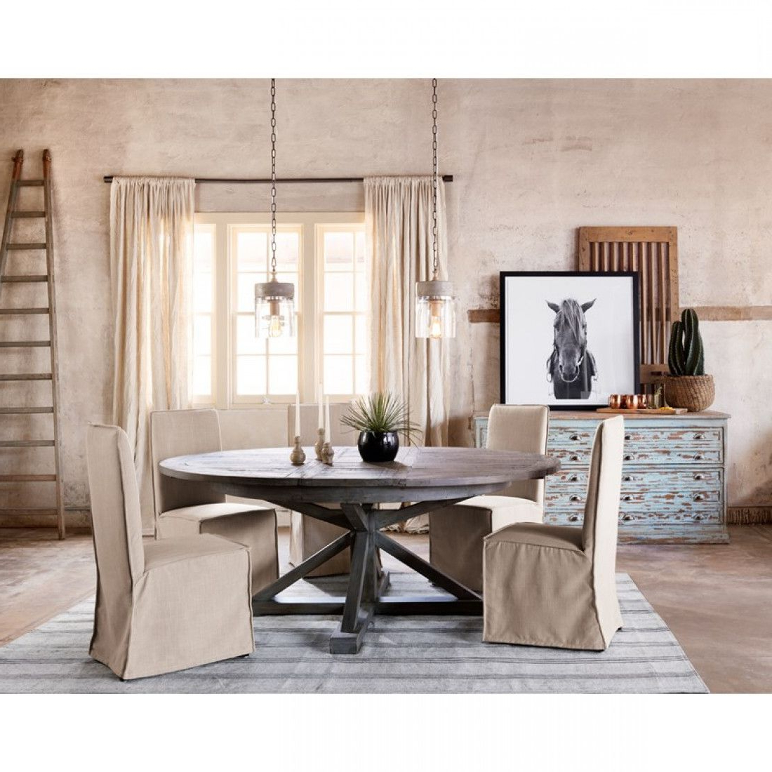 """Famous Hart Reclaimed Extending Dining Tables Within Cintra Extension Dining Table: 63 79"""" Black Olive (View 23 of 25)"""