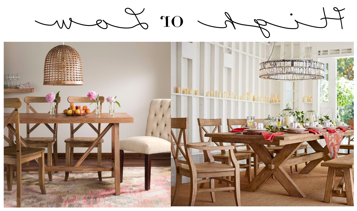 Famous High Or Low // Farmhouse Table Sets – My 100 Year Old Home Inside Seadrift Benchwright Pedestal Extending Dining Tables (View 25 of 25)