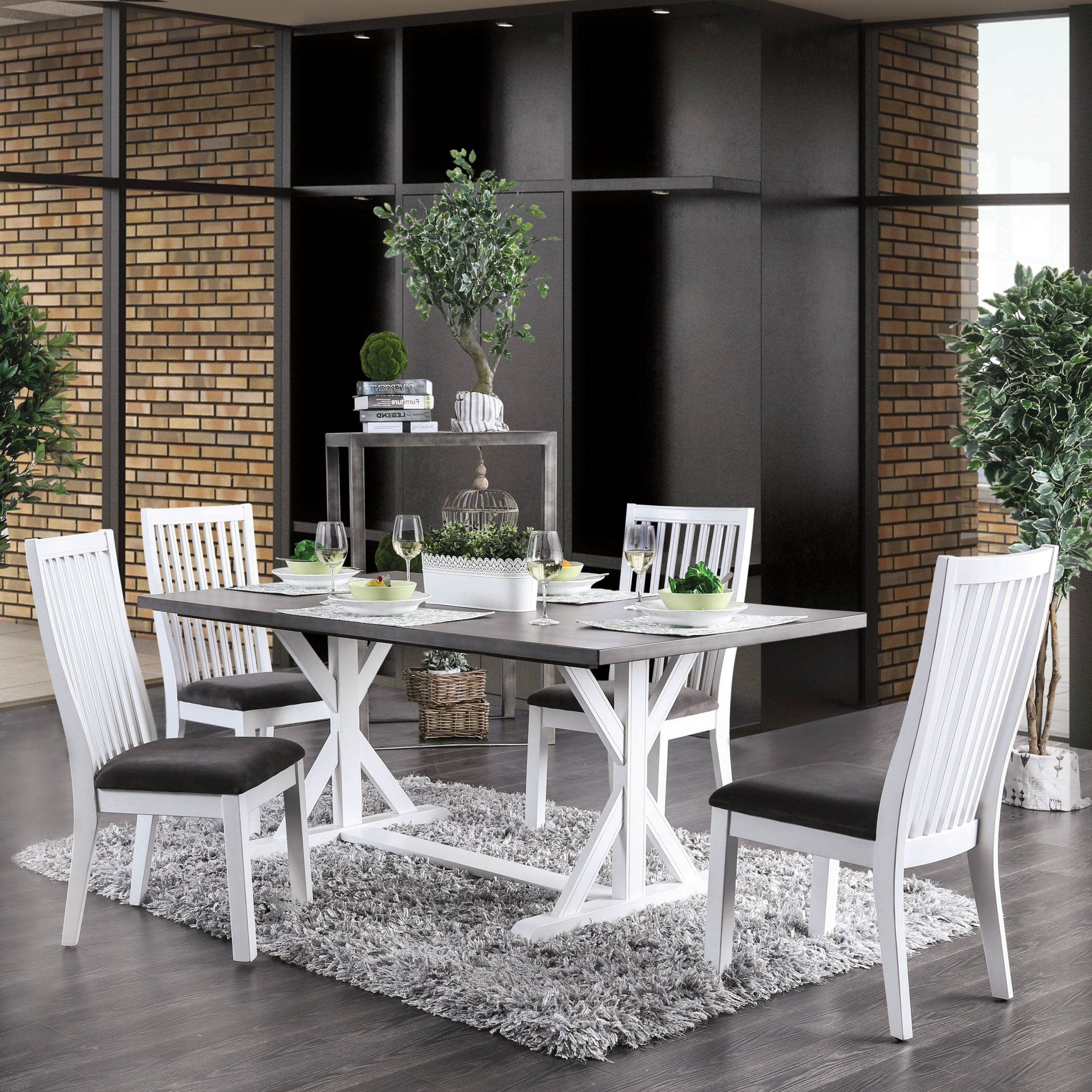 Famous Kipling Rectangular Dining Tables With Regard To Lytton Farmhouse White 5 Piece Rectangle Dining Setfoa (View 21 of 25)