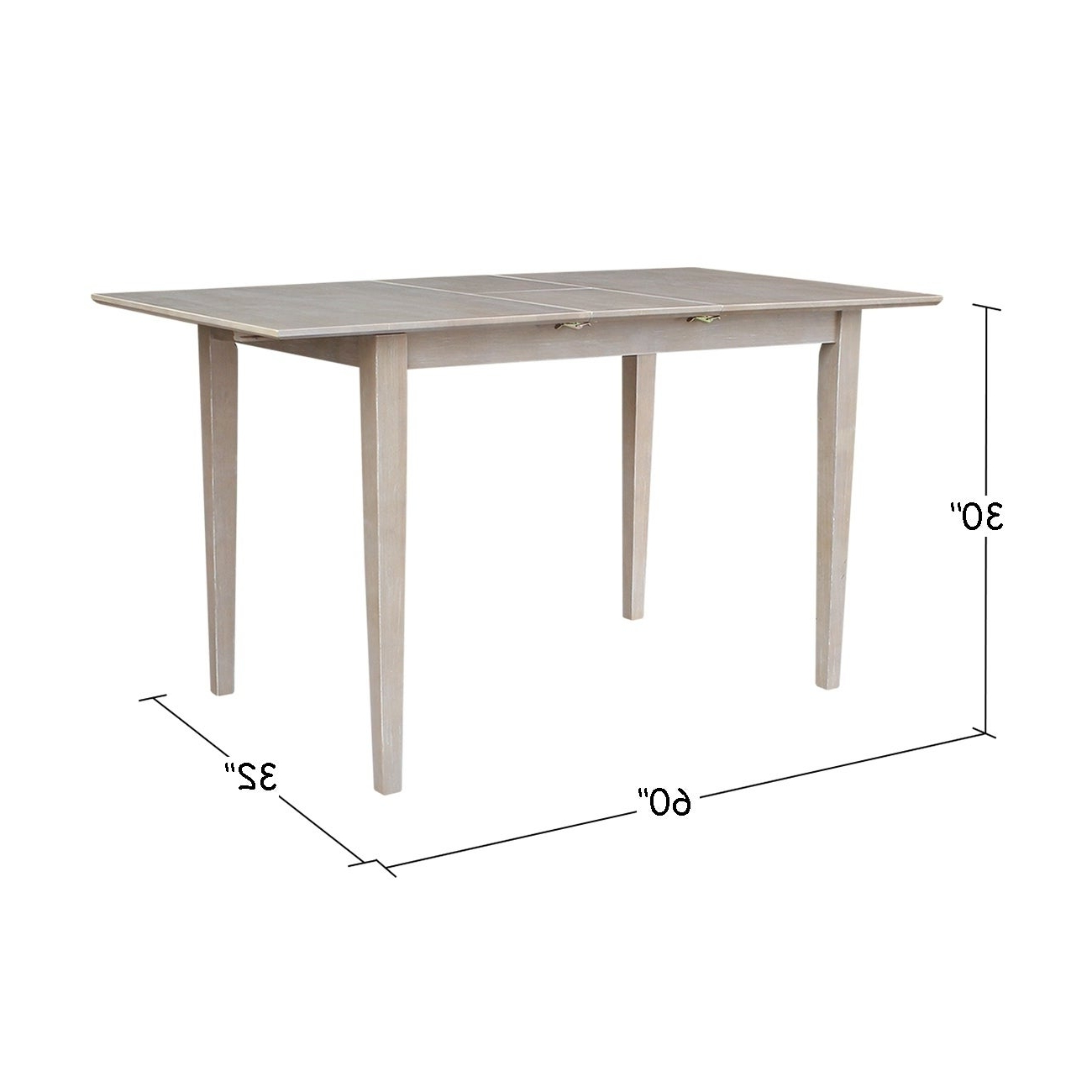 Fashionable Gray Wash Benchwright Extending Dining Tables In Table With Butterfly Extension – Washed Gray Taupe – Washed Gray Taupe (View 9 of 25)
