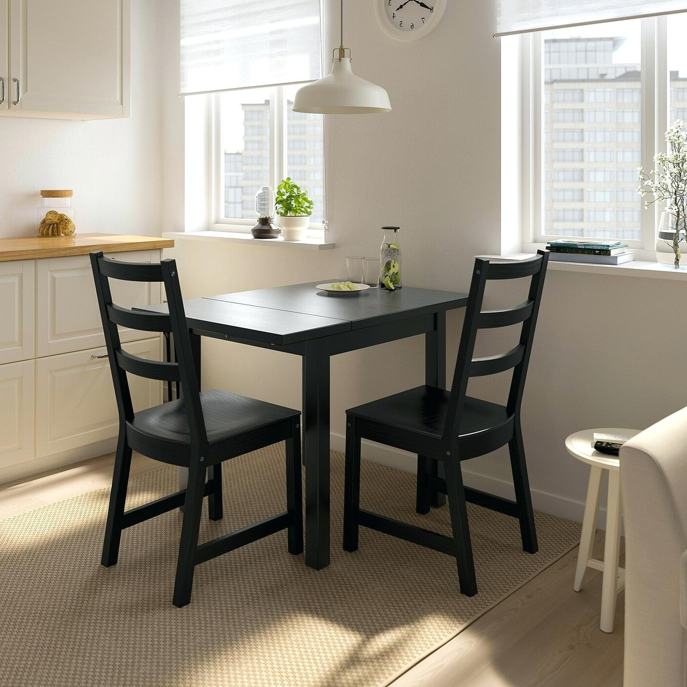 Fashionable Salvaged Black Shayne Drop Leaf Kitchen Tables Intended For Black Kitchen Table With Leaf – Funtom (View 4 of 25)