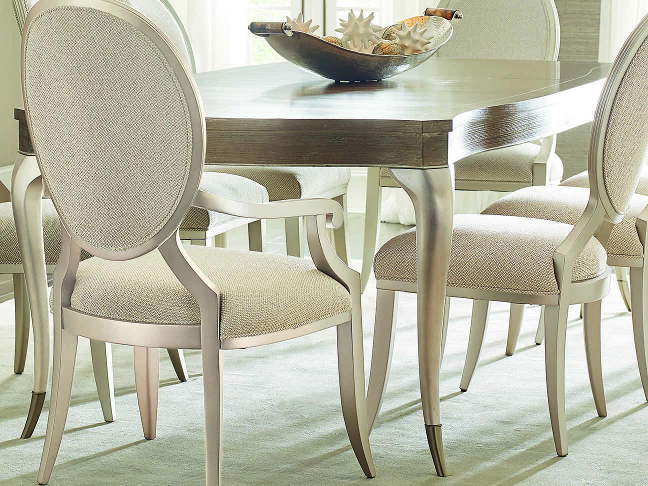 Favorite Caracole Compositions Avondale Ash / Soft Silver 78 118''w X 45''d  Rectangular Expandable Dining Table For Avondale Dining Tables (View 2 of 25)