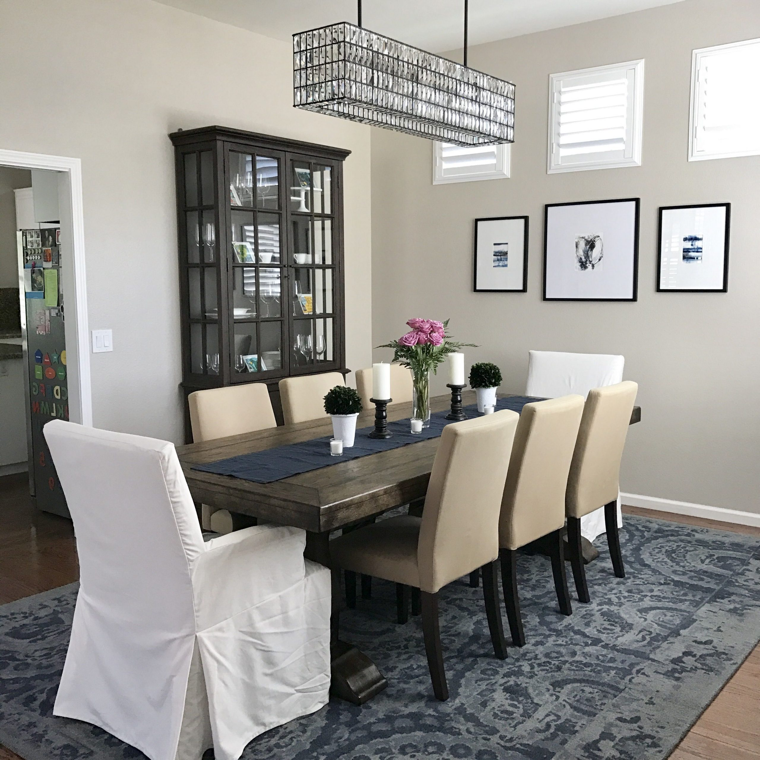 Favorite Dining Room Is Done! Pottery Barn Lorraine Extending Dining Throughout Rustic Brown Lorraine Pedestal Extending Dining Tables (View 10 of 25)